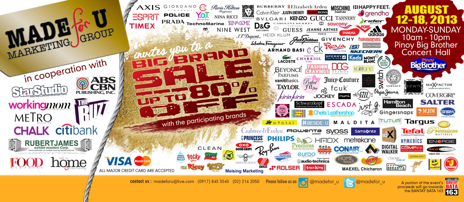 Big Brand Sale @ Pinoy Big Brother Concert Hall August 2013