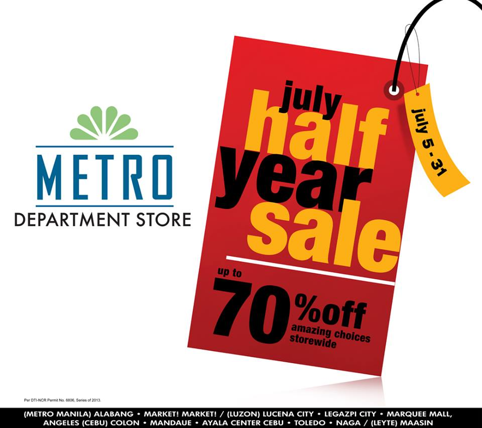 Metro Department Store July Half Year Sale July 2013