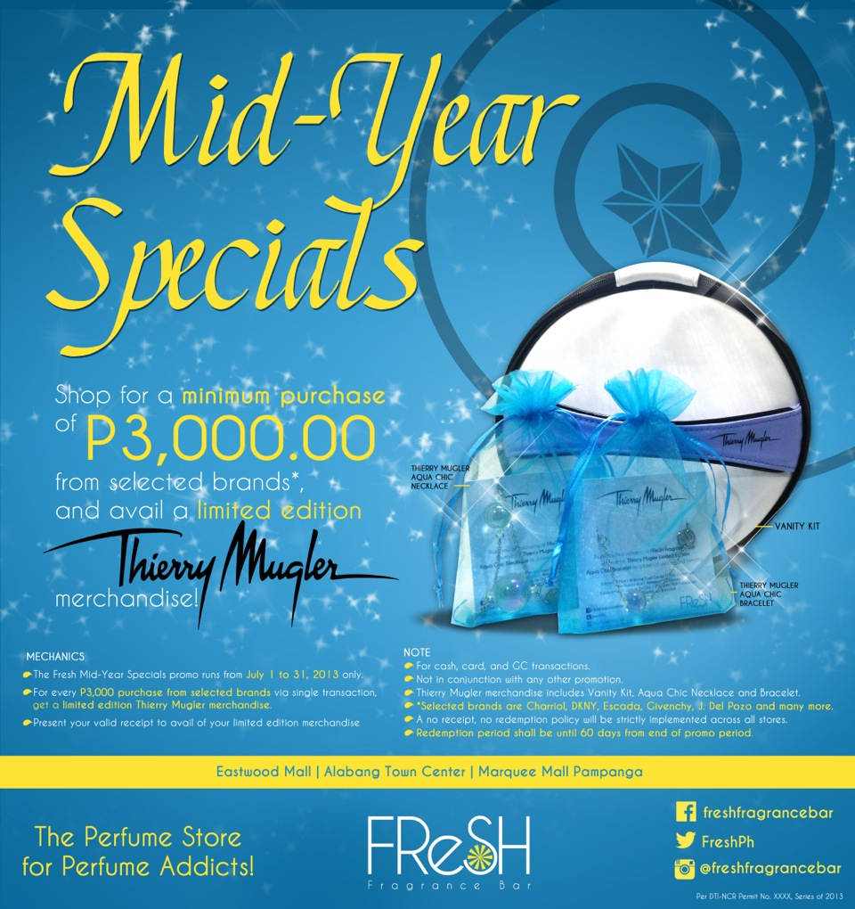 Fresh Fragrance Bar Mid Year Specials July 2013