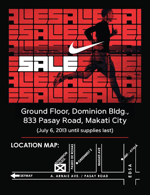 Nike Warehouse Sale @ Dominion Building, Makati July 2013