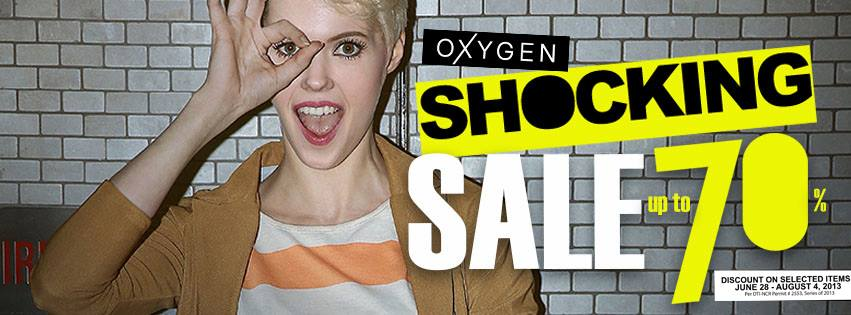 Oxygen Shocking Sale June - August 2013