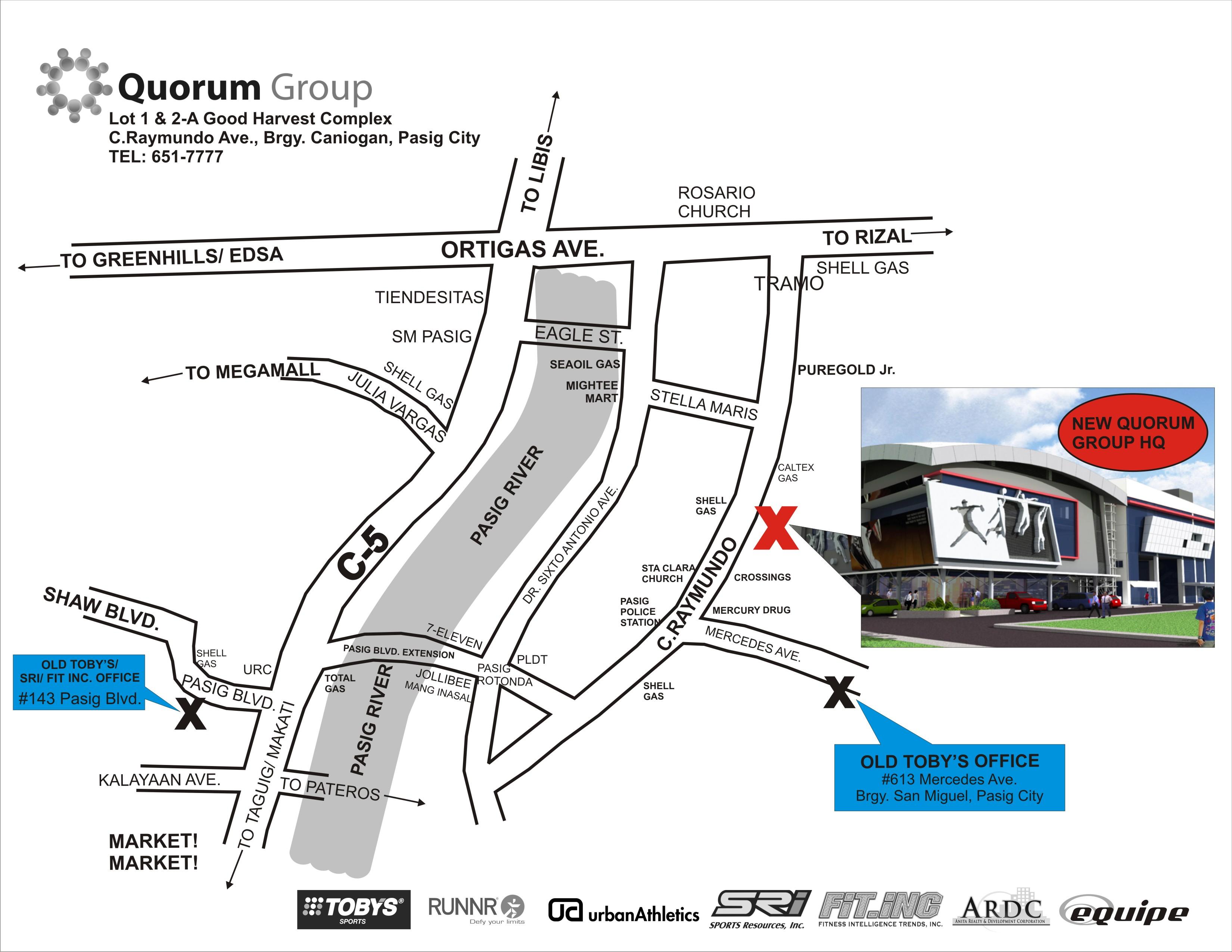 Quorum Group HQ location map