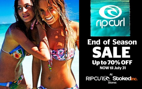 Rip Curl End of Season Sale July 2013