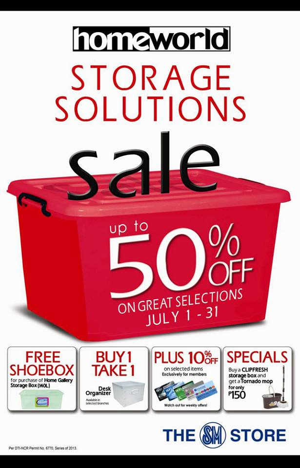 SM Homeworld Storage Solutions Sale July 2013