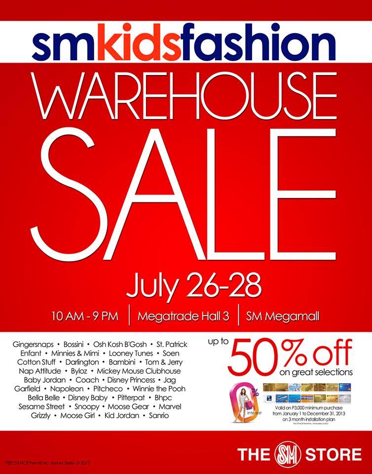SM Kids Fashion Warehouse Sale @ SM Megatrade Hall July 2013