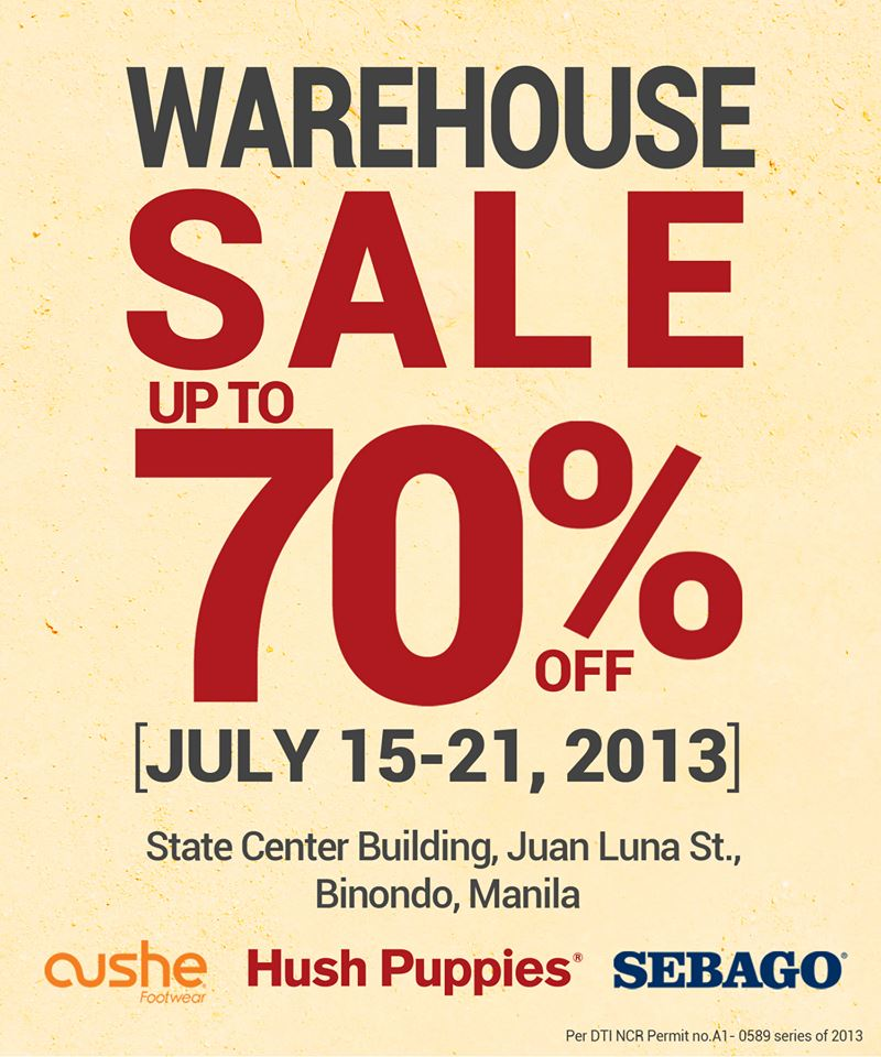 Sebago, Hush Puppies, Cushe Warehouse Sale @ State Center Building July 2013