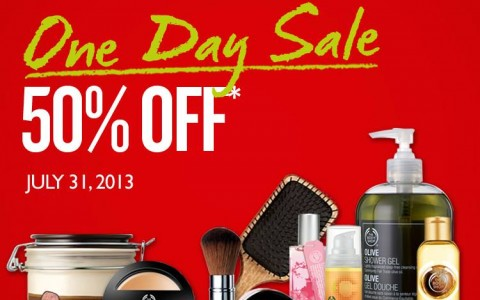 The Body Shop One-Day Sale July 2013