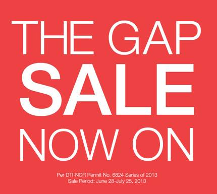The Gap Mid-Year Sale June - July 2013