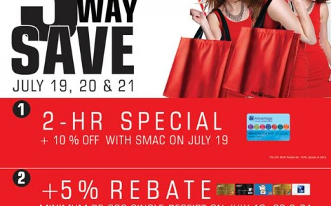 The SM Store 3-Day Sale July 2013