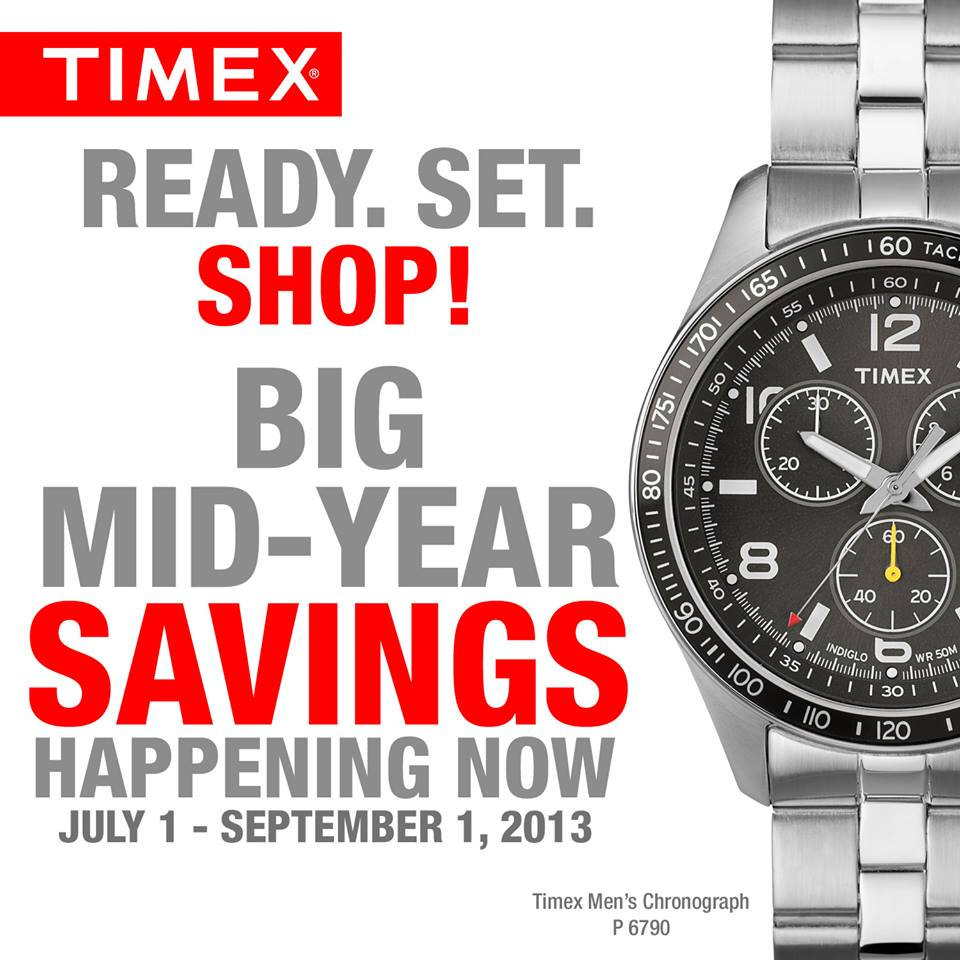 Timex Mid-Year Sale July - September 2013