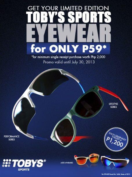 Toby's Sports Eyewear Promo July 2013