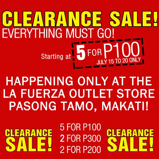 Tomato Clearance Sale @ La Fuerza Outlet Store July 2013