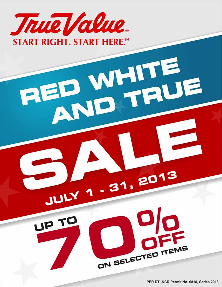 True Value Red White and True Sale July 2013