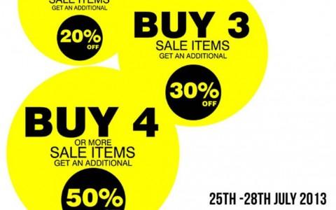 Warehouse End of Season Sale Promo July 2013