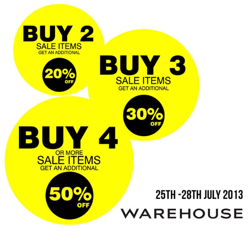 Warehouse End of Season Sale Promo July 2013