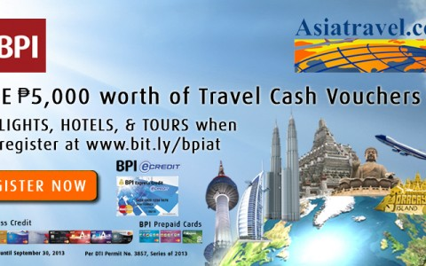 BPI + Asiatravel Promo July - August 2013