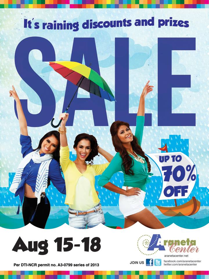 Araneta Center Rainy Day Sale August 2013