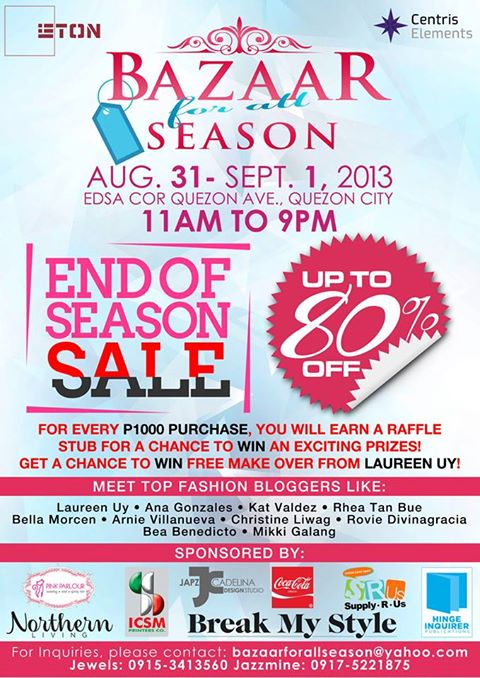 Bazaar For All Season @ Eton Centris August - September 2013