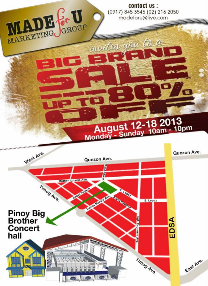 Big Brand Sale @ PBB Concert Hall Location