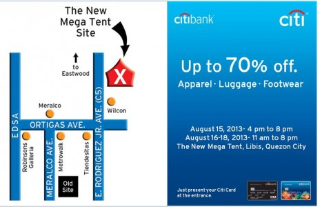 Citibank Premium Sale @ Megatent Libis August 2013