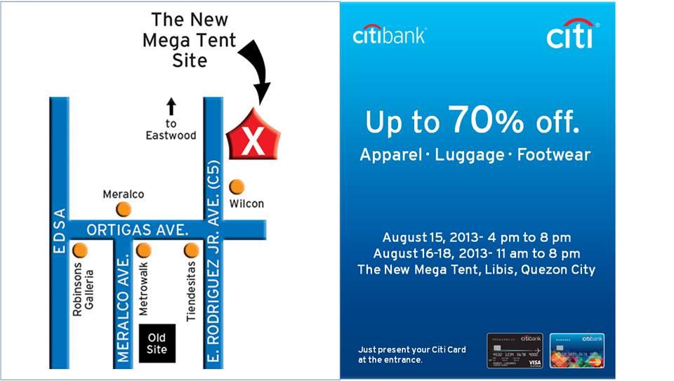 Citibank Premium Sale @ Megatent Libis August 2013