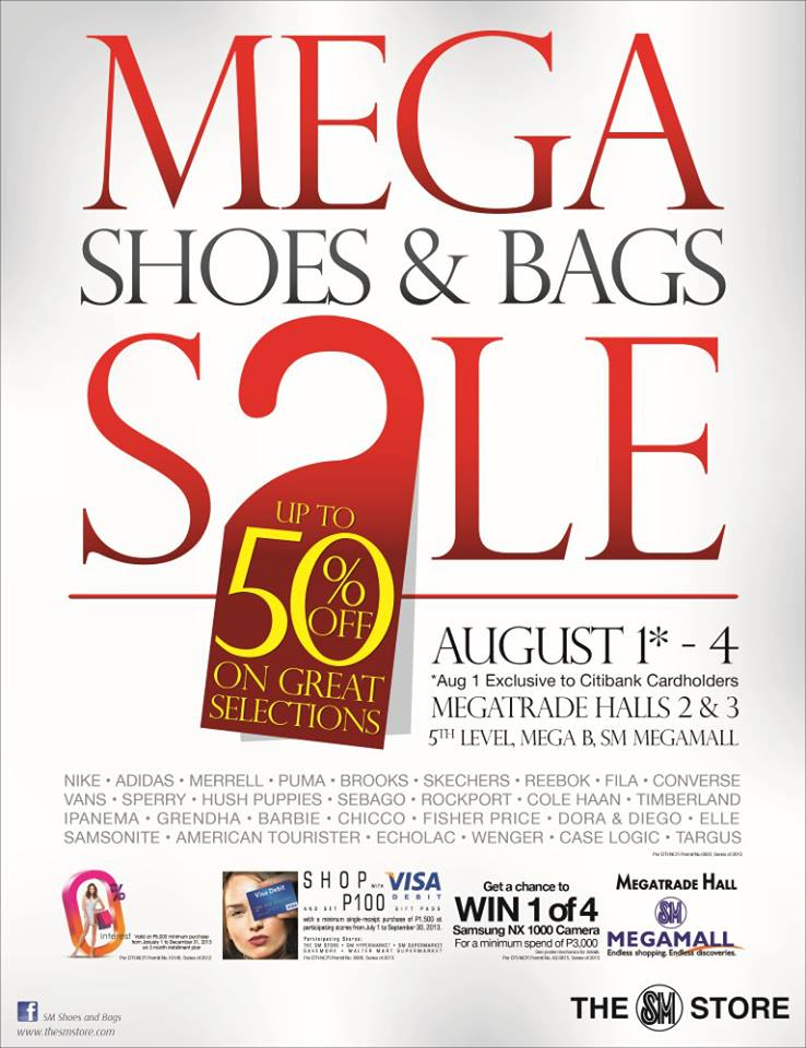 Mega Shoes & Bags Sale @ SM Megatrade Hall August 2013