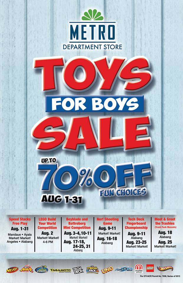 Metro Department Store Toys for the Boys Sale August 2013