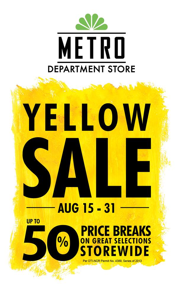 Metro Department Store Yellow Sale August 2013