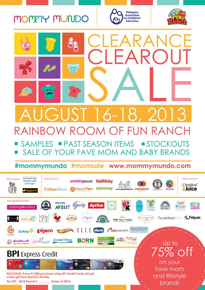 Mommy Mundo Clearance Clearout Sale @ Fun Ranch, Ortigas Center August 2013