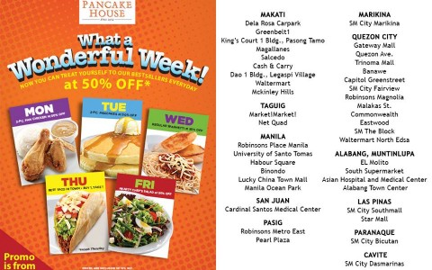 Pancake House What a Wonderful Week Promo August - September 2013