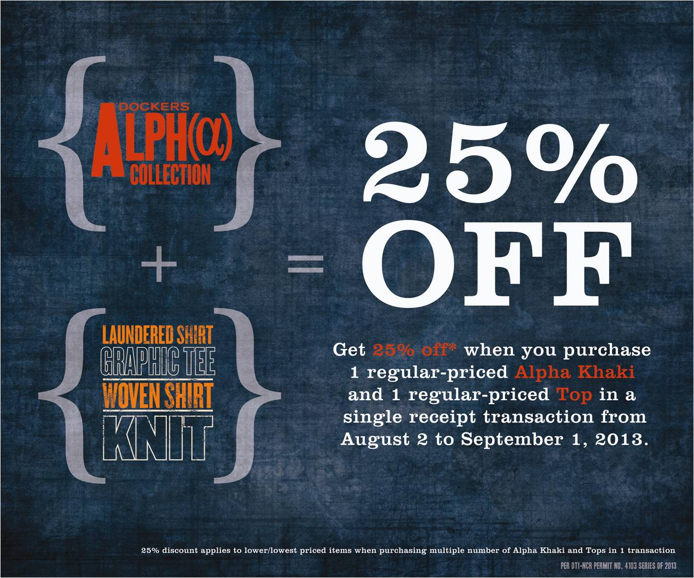 Dockers Alpha Khaki Promo August - September 2013
