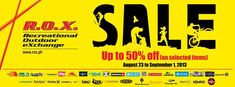 R.O.X. Sale August - September 2013