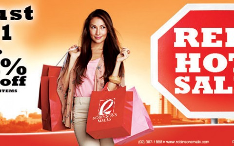 Robinsons Malls Red Hot Sale August 2013