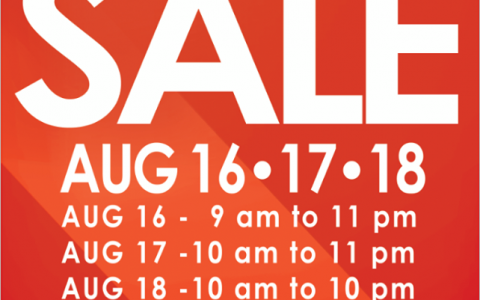 SM City Sta. Mesa 3-Day Sale August 2013