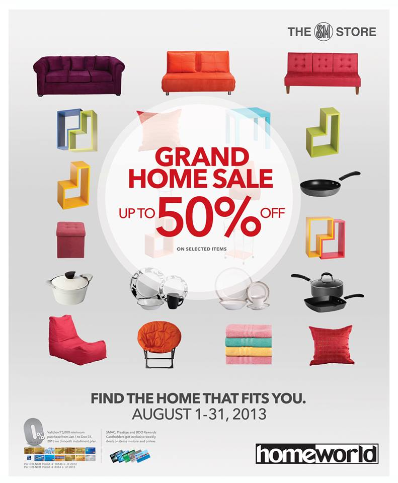 SM Homeworld Grand Home Sale August 2013