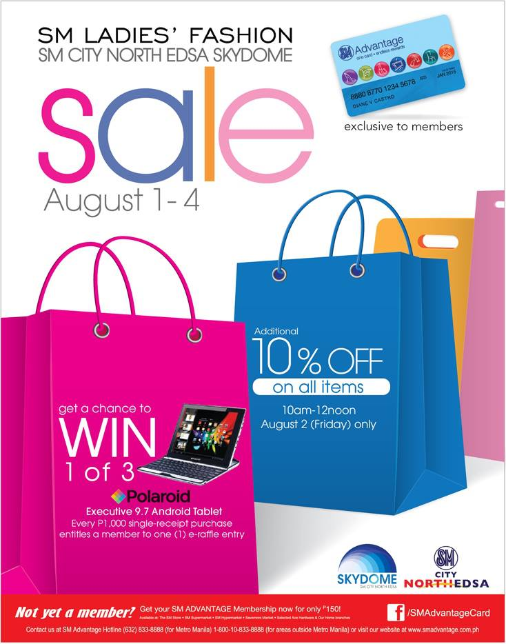 SM Ladies Fashion Sale @ SM City North Edsa August 2013