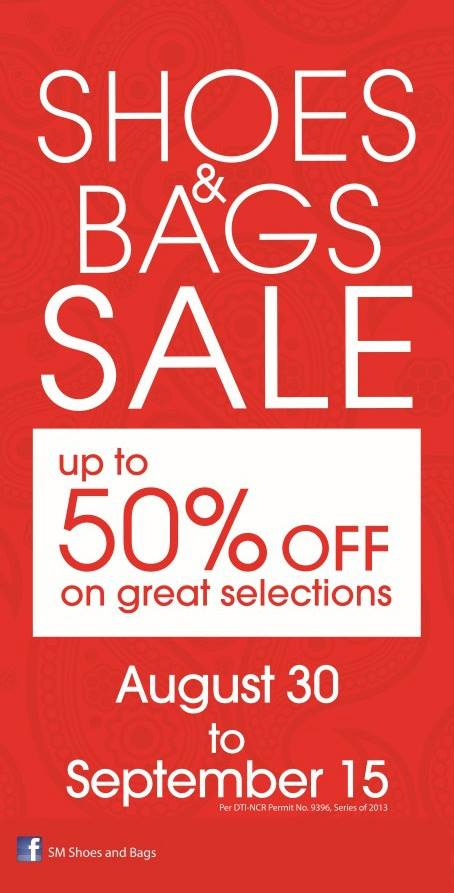 SM Shoes & Bags Sale August - September 2013
