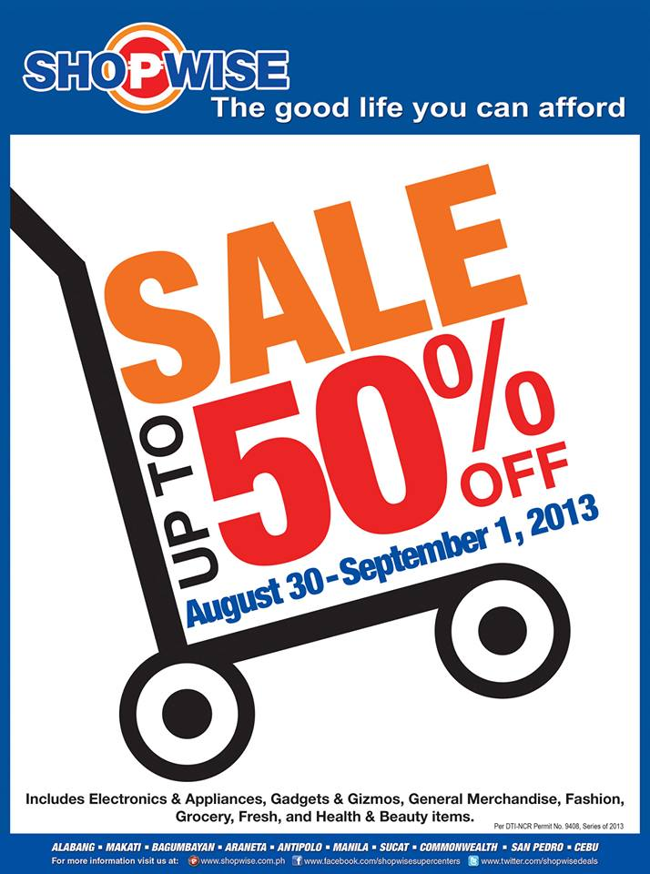 Shopwise 3-Day Sale August - September 2013