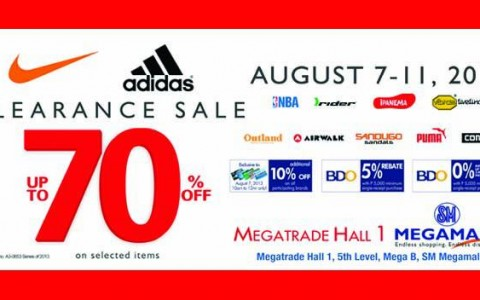 Sports Central Nike & Adidas Clearance Sale @ SM Megatrade Hall August 2013