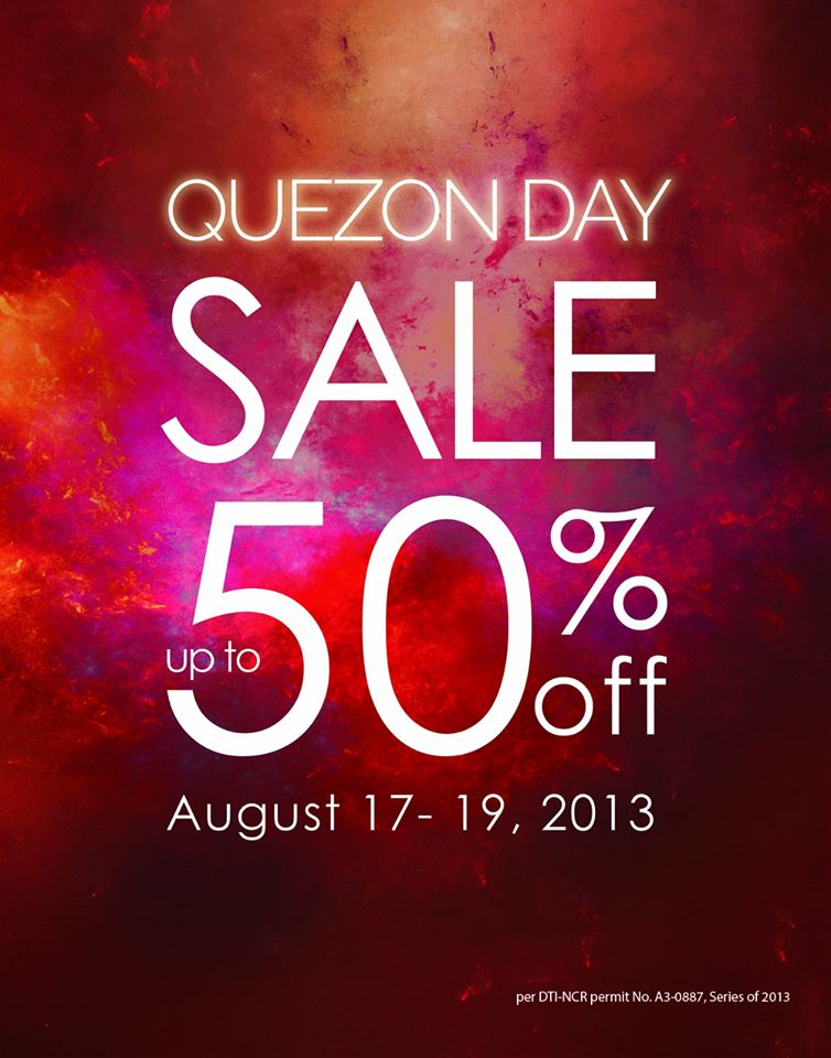 The SM Store Quezon Day Sale August 2013