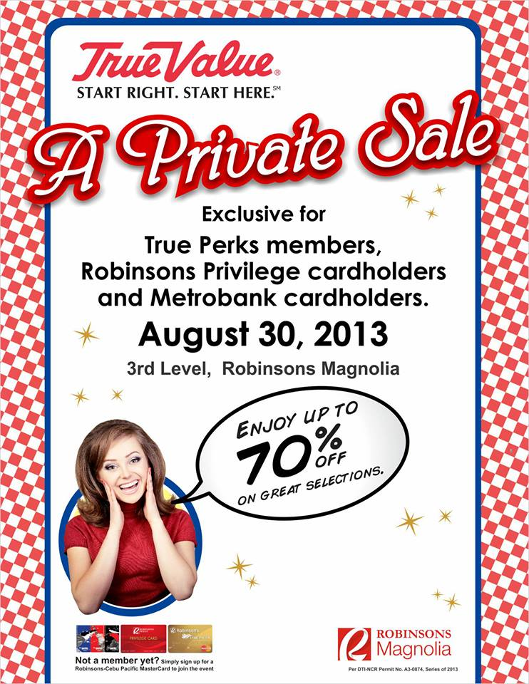 True Value A Private Sale @ Robinsons Magnolia August 2013