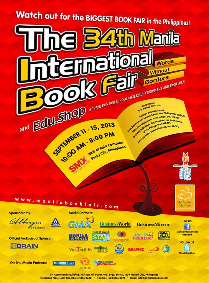 34th Manila International Book Fair @ SMX Convention Center September 2013