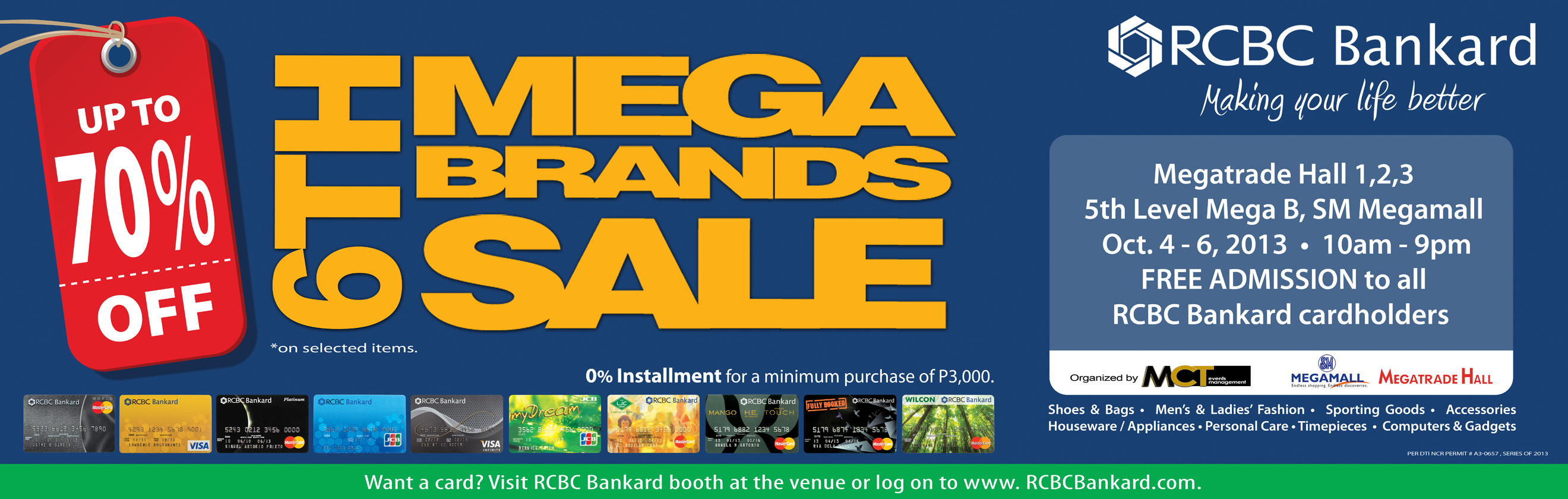 6th MegaBrands Sale @ SM Megatrade Hall October 2013