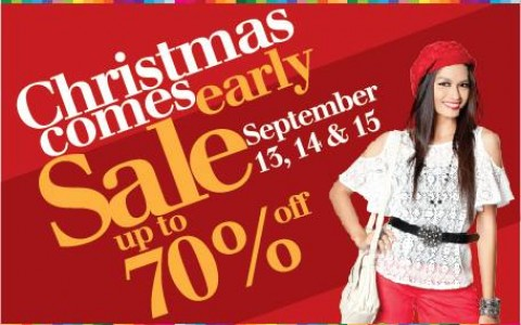 Araneta Center Christmas Comes Early Sale September 2013
