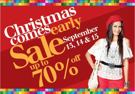 Araneta Center Christmas Comes Early Sale September 2013