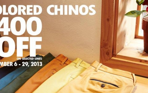 Basic House Colored Chinos Sale September 2013