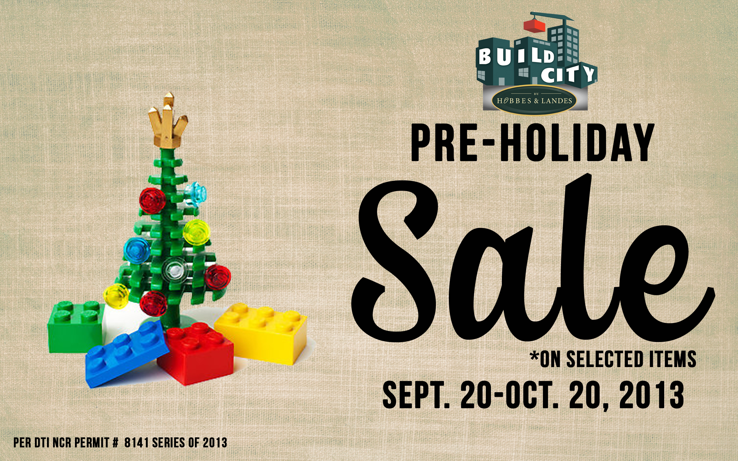 Build City Pre-Holiday Sale September - October 2013