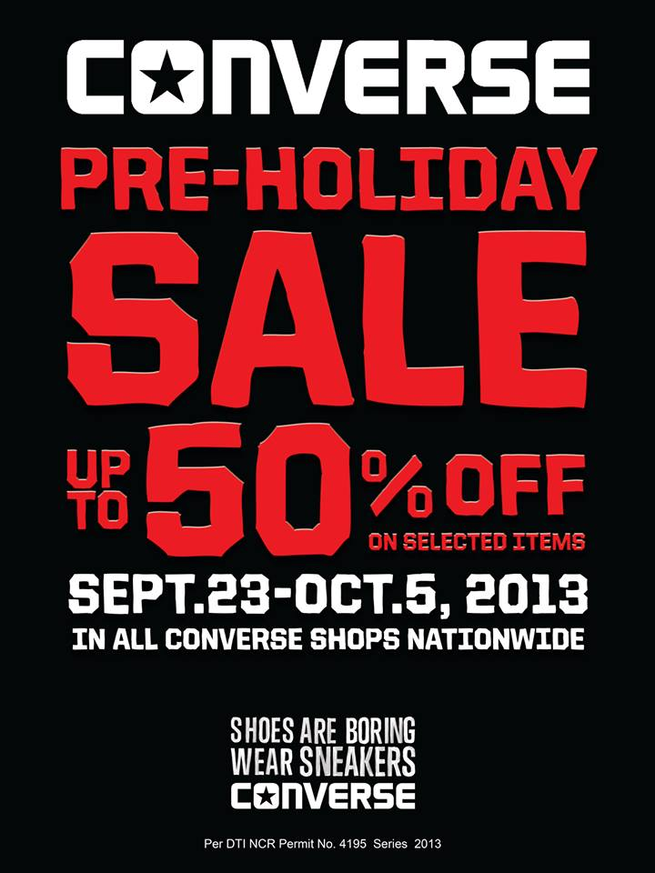 Converse Pre-Holiday Sale September - October 2013