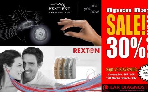 Ear Diagnostics Open Day Sale @ Taft Manila September 2013