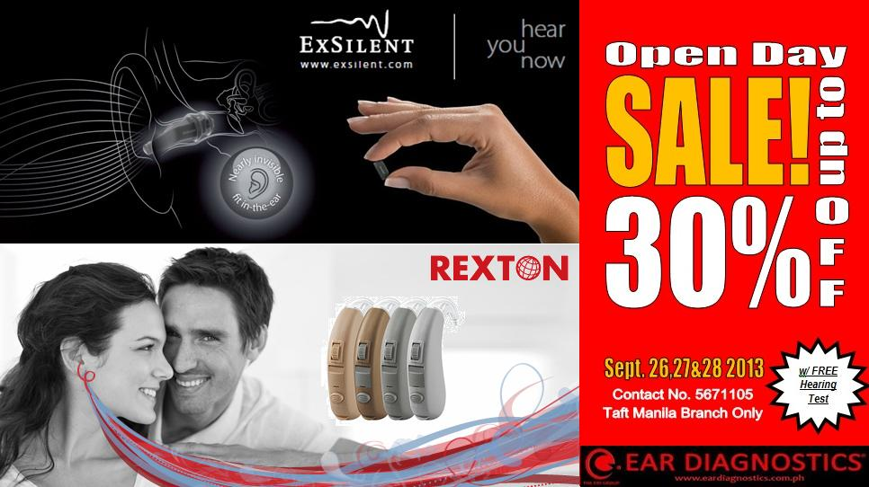 Ear Diagnostics Open Day Sale @ Taft Manila September 2013